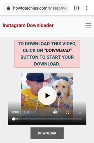 start download