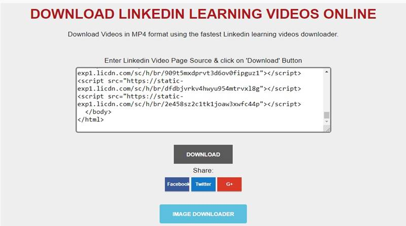 paste code to download video